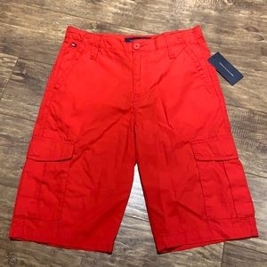 Bright red Tommy Hilfiger shorts